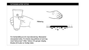 etterbehandling tatovering